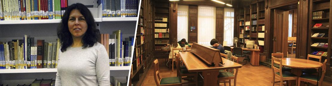 """Patricia Uribe, Bibliotecaria UAH:  """"La biblioteca digital tiene más de 10.090 fuentes abiertas de documentos electrónicos""""."""