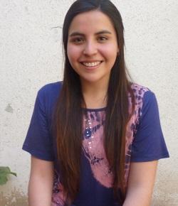 Claudia Lackington, estudiante de cuarto año de la carrera Educación Parvularia en la UAH.