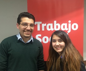 Óscar Navarrete, director de Trabajo Social junto a Diana Núñez.