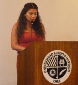 Joselyn Varas, presidenta de la nueva Federación de Estudiantes UAH.