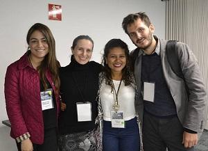 Germán Díaz, coordinador y académico del Centro de Seguridad Urbana junto a especialistas invitadas.