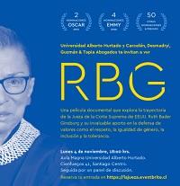 """SUSPENDIDA. Exhibición de la película documental """"La Jueza RBG"""""""